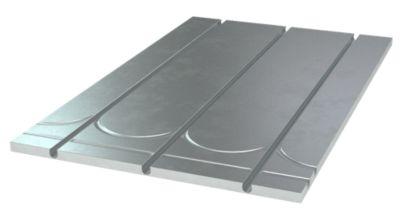 gulvvarmeplade 12 mm 1175x750x25 mm + vende og retur spor og alu. varmef. CC 125
