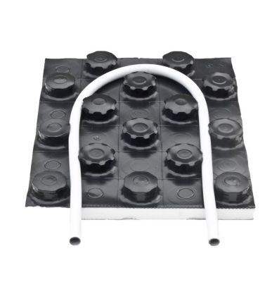 Kombitop dobbeltplade til 14-17mm gulvvarmerør. 1450x850x51mm