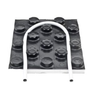 Kombitop dobbeltplade til 14-17mm gulvvarmerør. 1450x850x31mm