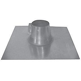 Øland Tagindækning TID-0-200 Ø200 mm. 0-5gr. Inkl. rørkrave. Galvaniseret