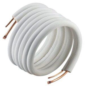 isoleret kølerør uden flange og omløber 1/4'' x 5/8''. Passer til varmepumpe VAI 5-065 WN 346675070. Lgd. A 20 mtr.