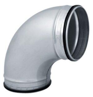 Bøjning 90° Ø125 mm Nippel/Nippel