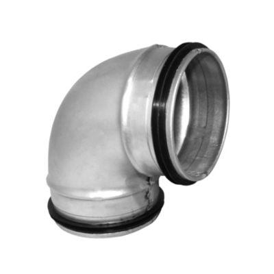 kort Bøjning 90° Ø160 mm. Nippel/Nippel