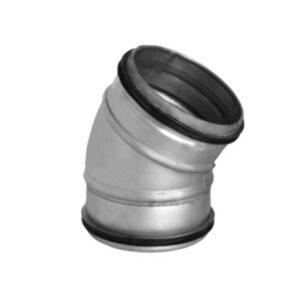bøjning 30° Ø125 mm Nippel/Nippel