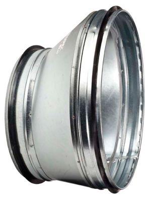 excentrisk reduktion Ø125-100 mm. Nippel/Nippel Længde 65 mm