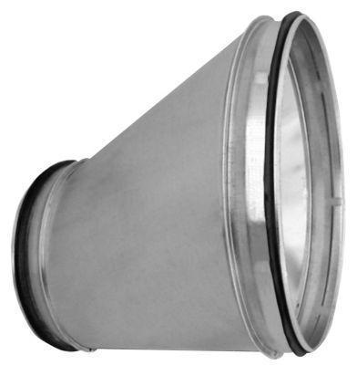 excentrisk reduktion lang Ø250-160 RER-250-160 nippel/nippel