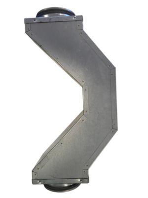 overbøjning Ø160. 180 mm x 180 mm