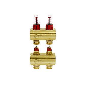Danfoss FHF-2F gulvvarmemanifold 2+2 med flowmeter