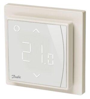 Danfoss ECtemp Smart termostat med elektronisk timer og WI-FI. Hvid
