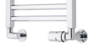TVS ventilsæt 120 1/2 Retur ventilsæt inkl. rørafdækninger. Krom