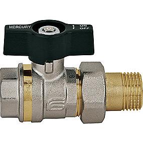 Mercury kuglehane 3/4'' muffe og med radiatorforskruning T-greb