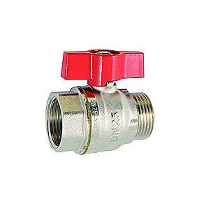 kuglehane 1'' muffe/nippel. Byggelængde 66 mm