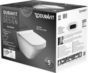 Duravit Durastyle hængeskål Rimless med softclose toiletsæde