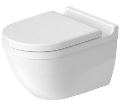 Duravit Starck3 hængeskål & toiletsæde Hvid Højglans
