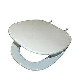 Ifö Aqua toiletsæde kort model. Hvid