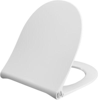Pressalit Sway D 934 toiletsæde med soft close og lift-off inkl. beslag i rustfrit stål. Hvid