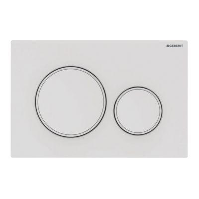 Geberit SIGMA20 betjeningsplade 246x164x12mm hvid/mathvid