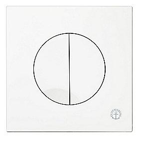 Gustavsberg Triomont XS trykplade. Hvid