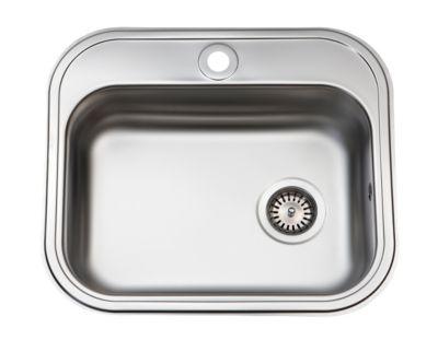 Juvel køkkenvask 480x340mm med hanehul og strainer