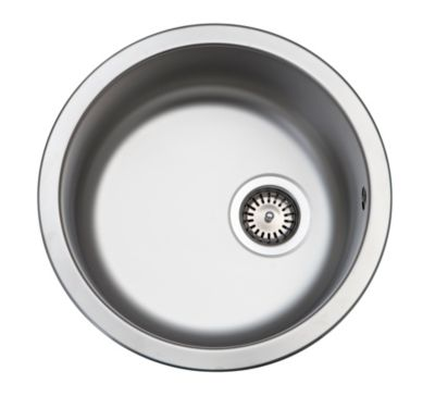 Juvel køkkenvask Ø 385mm med strainer