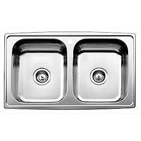 Juvel Intra Horizon dobbel køkkenvask 815x510mm