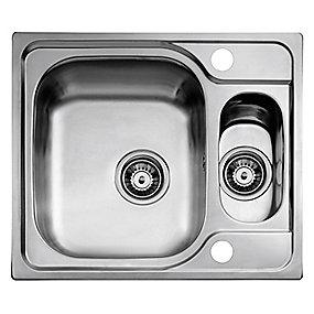 Juvel universal køkkenvask 580x500mm med strainer. til nedfældning