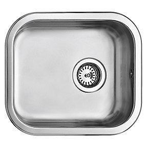 Uni køkkenvask 400x340mm med strainer