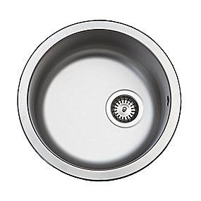 Uni køkkenvask Ø380mm med strainer