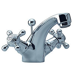 Damixa Tradition 2 grebs håndvaskarmatur. Forkromet med bundventil