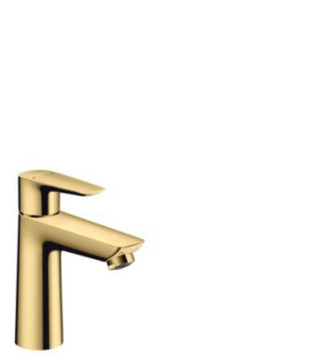hansgrohe Talis E 110 Håndvaskarmatur med løft-op bundventil Poleret guld-optik