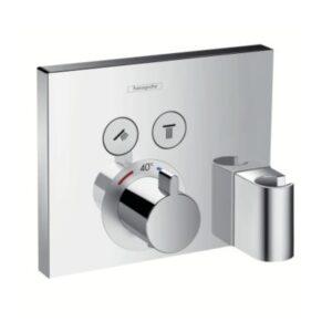hansgrohe ShowerSelect termostat med 2 udtag og integreret bruserholder