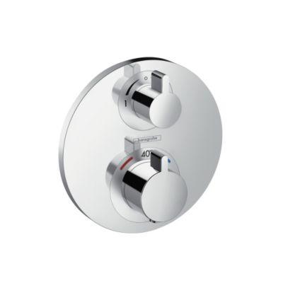 hansgrohe Ecostat S termostatarmatur med afspærring og omskifter