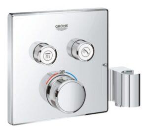 GROHE Smartcontrol termostat indbygning med 2 funktioner og bruseholder. Firkantet