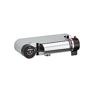Damixa TMC termostatarmatur. Med sorte greb. afg. nedad. u/rosetter 27450.00S
