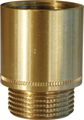 haneforlænger 1/2x15mm rå messing