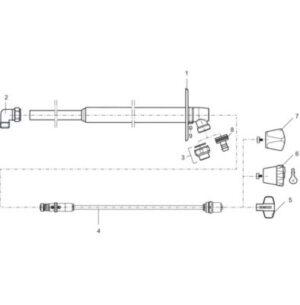 Mora garden ll komplet inderspindel 400mm (totallængde 480mm) t/Mora garden ii vvs nr. 743453544