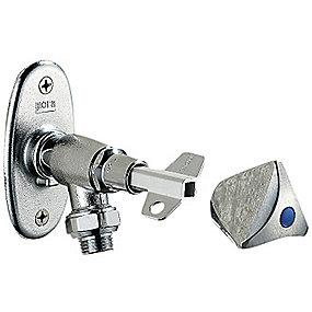 Mora posteventil t.væg 300-450mm Kronegreb og nøgle. Afkortelig
