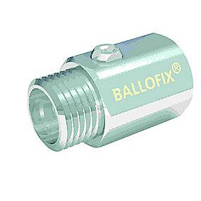 Broen Ballofix kuglehane 3/8''. Muffe-nippel. Uden håndtag. Krom