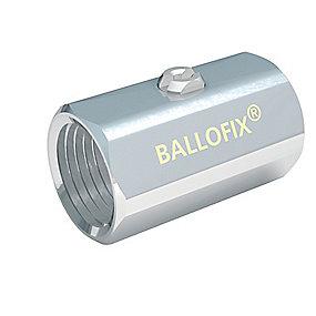 Broen Ballofix Kuglehane 1/2''. Muffe-muffe. Uden håndtag. Krom