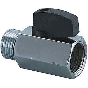 V&B Forkromet kuglehane 1/2'' nippel/muffe med håndtag