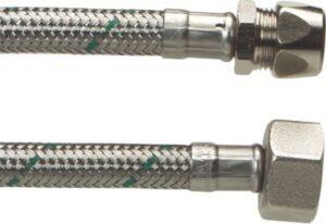 Neoperl Softpex tilslutningsslange 300 mm. 10 mm x 1/2 L. Rustfri flet. Koldt & varmt vand. NEOFLEXSPX DN8