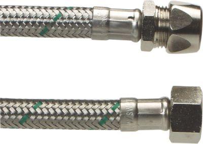 Neoperl Softpex tilslutningsslange 400 mm. 10 mm x 3/8 L. Rustfri flet. Koldt & varmt vand. NEOFLEXSPX DN8