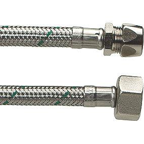 Neoperl Softpex tilslutningsslange 500 mm. 10 mm x 1/2 L. Rustfri flet. Koldt & varmt vand. NEOFLEXSPX DN8