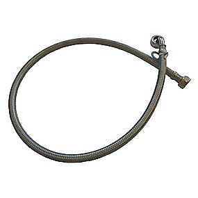 Neoperl tilslutningsslange 1000 mm. 1/2 X 3/4. til varmt vand. rustfri stålomflet