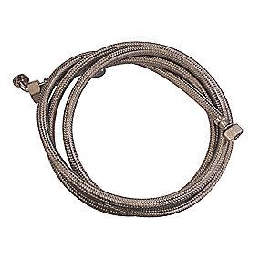 Neoperl tilslutningsslange 2500 mm. 1/2 X 3/4. til varmt vand. rustfri stålomflet