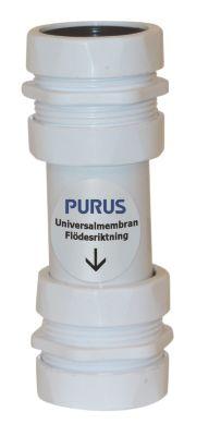 Purus Udløbsrør Ø32/40mm med PUM. Lugtspærre i ventilationsanlæg eller aircondition