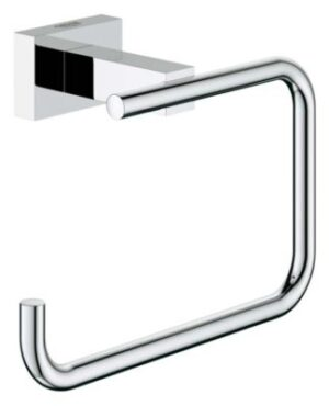 GROHE Essentials Cube toiletrulleholder. Krom