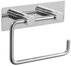 Pressalit toiletpapirholder med bagplade i poleret rustfri stål