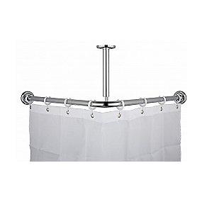 Vinkel badeforhængsstang 90 x 90 mm
