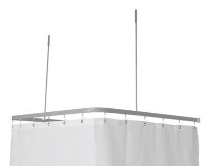 Van Der P Profil2001 FladSkinne 8x25mm U:90x90x90cm med 2 x loftstøtte. Sølv